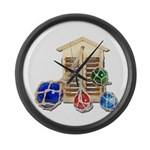 House Afloat Large Wall Clock