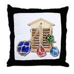 House Afloat Throw Pillow