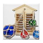 House Afloat Tile Coaster