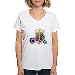 House Afloat Women's V-Neck T-Shirt