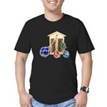 House Afloat Men's Fitted T-Shirt (dark)