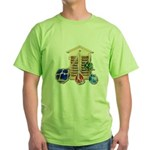 House Afloat Green T-Shirt