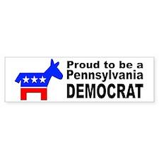 Pennsylvania Democrat Pride Bumper Sticker