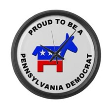 Pennsylvania Democrat Pride Large Wall Clock