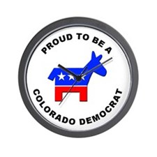 Colorado Democrat Pride Wall Clock