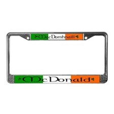 McDonald Name Irish & English License Plate Frame