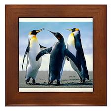 Happy Penguins Framed Tile