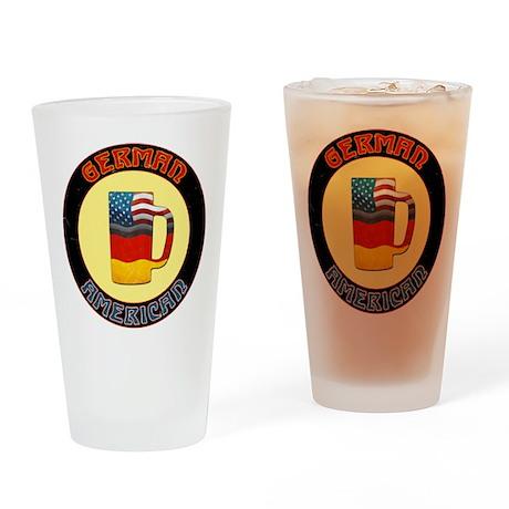 German American Beer Stein Drinking Glass