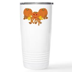 Halloween Pumpkin Roy Stainless Steel Travel Mug