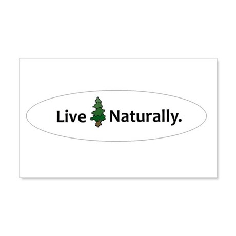 Live Naturally 20x12 Wall Decal
