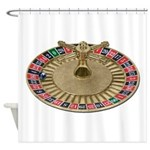 Roulette Wheel Shower Curtain