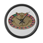 Roulette Wheel Large Wall Clock