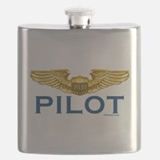 Pilot WIngs (gold wings) Flask