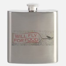Willl Fly for Food Flask