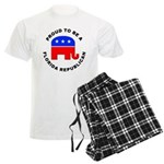 Florida Republican Pride Men's Light Pajamas