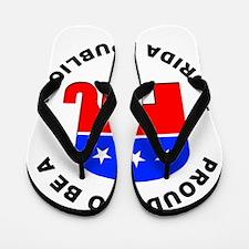 Florida Republican Pride Flip Flops