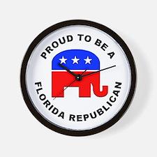 Florida Republican Pride Wall Clock