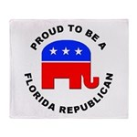 Florida Republican Pride Throw Blanket
