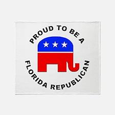 Florida Republican Pride Throw Blanket