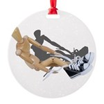 Tying Shoes Round Ornament