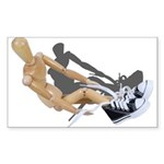 Tying Shoes Sticker (Rectangle 50 pk)