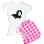 Lacey Black Scarf Women's Light Pajamas