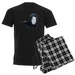 Lacey Black Scarf Men's Dark Pajamas