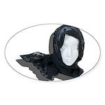 Lacey Black Scarf Sticker (Oval 10 pk)
