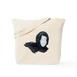 Lacey Black Scarf Tote Bag