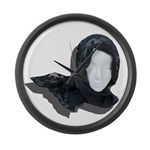 Lacey Black Scarf Large Wall Clock