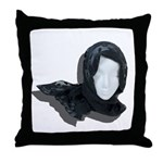 Lacey Black Scarf Throw Pillow