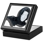 Lacey Black Scarf Keepsake Box