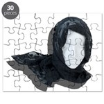 Lacey Black Scarf Puzzle