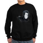Lacey Black Scarf Sweatshirt (dark)