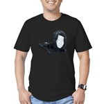 Lacey Black Scarf Men's Fitted T-Shirt (dark)