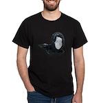 Lacey Black Scarf Dark T-Shirt