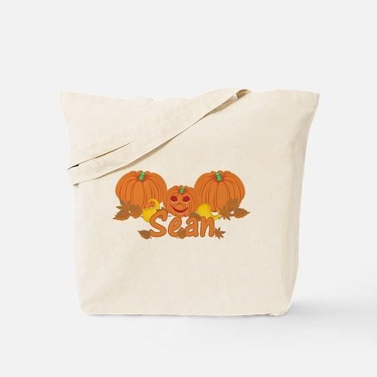 Halloween Pumpkin Sean Tote Bag