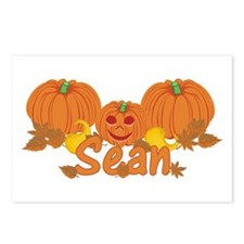 Halloween Pumpkin Sean Postcards (Package of 8)