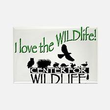 I love the Wildlife logo.png Rectangle Magnet (100