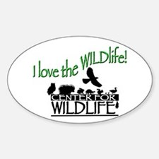 I love the Wildlife logo.png Sticker (Oval)