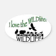 I love the Wildlife logo.png Oval Car Magnet