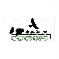 cfw coexist art.png Aluminum License Plate