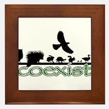 cfw coexist art.png Framed Tile