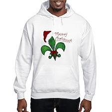 Merry Christmas Fleur de lis Hoodie