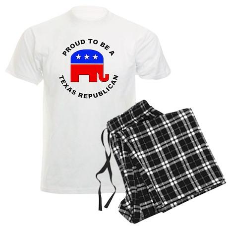Texas Republican Pride Men's Light Pajamas
