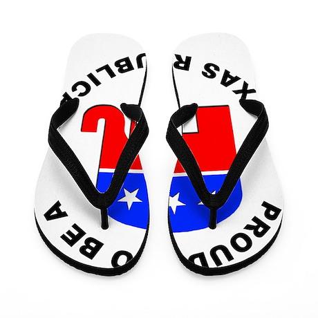 Texas Republican Pride Flip Flops