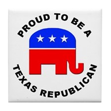 Texas Republican Pride Tile Coaster