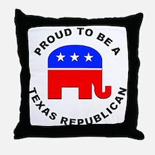 Texas Republican Pride Throw Pillow