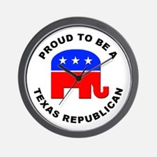 Texas Republican Pride Wall Clock