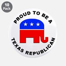 "Texas Republican Pride 3.5"" Button (10 pack)"